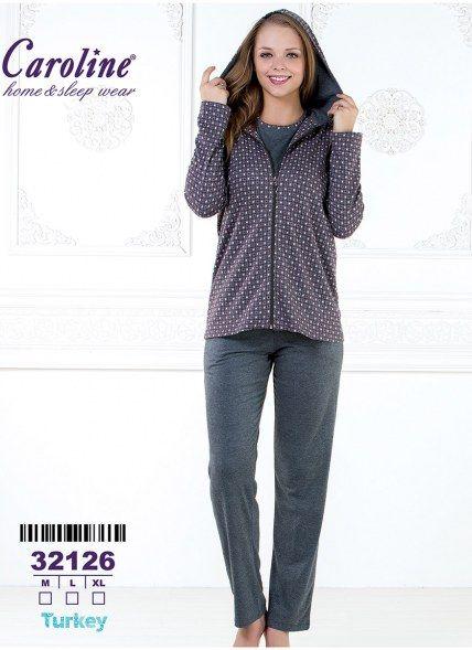 Пижама Комплект с Брюками 3-КА (M+L+XL) Caroline