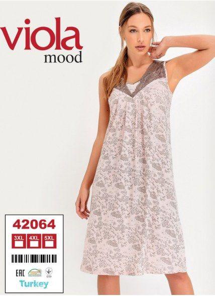 Ночная Сорочка (3XL+4XL+5XL) viola mood