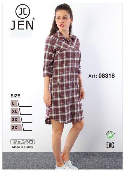 Женская Рубашка (L+XL+2X+3X) JEN