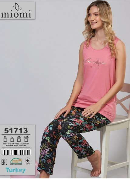 Пижама Комплект с Брюками (M+L+XL+2XL) MIOMI