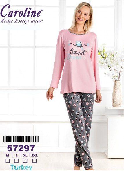 Пижама Комплект с Брюками 2-КА (M+L+XL+2XL) Caroline
