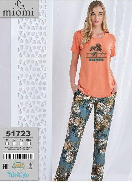 Пижама Комплект с Брюками (M+L+XL+XL) MIOMI